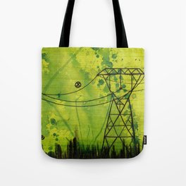 aliens and powerlines Tote Bag
