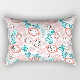 Pitahaya and Cactus Garden Rectangular Pillow
