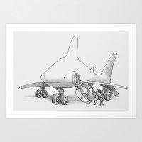 pilot Art Prints featuring Pilot Fish by Eric Fan