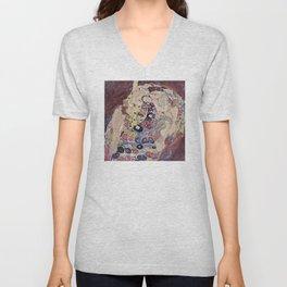 Gustav Klimt - The Maiden Unisex V-Neck