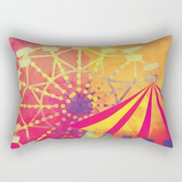 The Fair is in Town - Kitschy Abstract Watercolor Rectangular Pillow