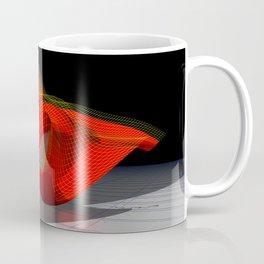 Waved red surface Coffee Mug
