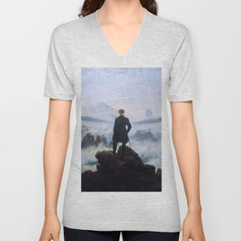 "Caspar David Friedrich ""Wanderer above the sea of fog"" Unisex V-Neck"