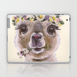 Holly The Alpaca, Alpaca Art Laptop & iPad Skin
