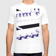 Mixing Console MEDIUM White Mens Fitted Tee