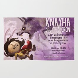 K'nayha and The Crow: Wolf Attack Rug