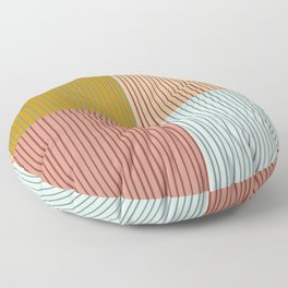 Stripes and Squares Geometric Floor Pillow