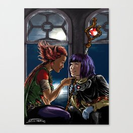 The beast and the priest Canvas Print