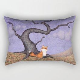 the rainy fox Rectangular Pillow