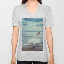 Swan 3 Unisex V-Neck