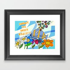 HOORAY THE HONEY WHALE Framed Art Print