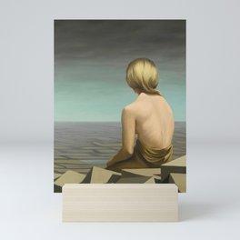 'Well-behaved Women Seldom Make History' female portrait by Kay Sage Mini Art Print