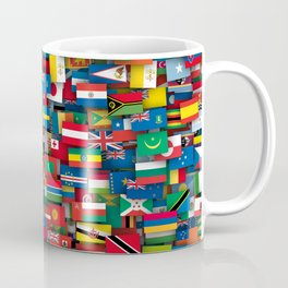 Flags of all countries of the world Coffee Mug