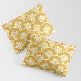 Yellow Mustard Sunshine Abstract Arch Modern Wave Spring Summer Pillow Sham