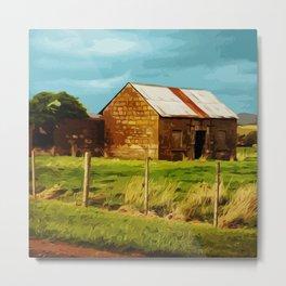 Old Stone Cottage, Tasmania Metal Print