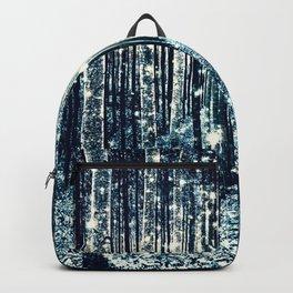 Magical Forest Teal Gray Elegance Backpack
