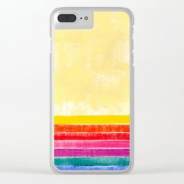 Abstract rainbow pattern in acrylic Clear iPhone Case
