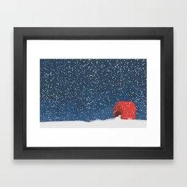 Snoopy in the Snow Framed Art Print