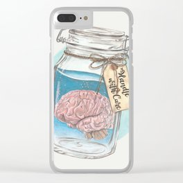 Handle with Care Clear iPhone Case