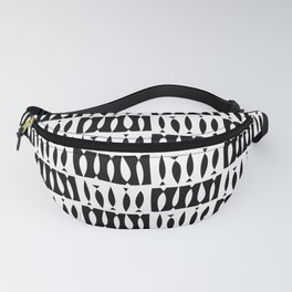 IBO FISH BLACK AND WHITE BY SUBGRL Fanny Pack