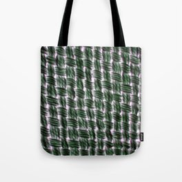 Macrame Square Knots: Green With Pink Accents Tote Bag