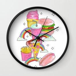 fast food heaven Wall Clock