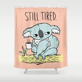 Tired Koala Shower Curtain