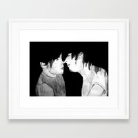larry stylinson Framed Art Prints featuring Larry by Vidility