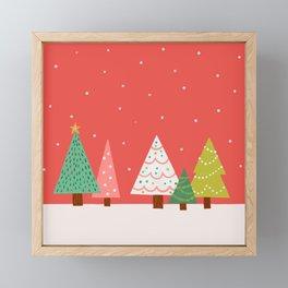 Holly Jolly Trees Framed Mini Art Print