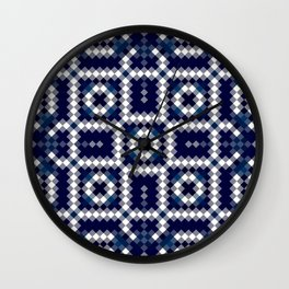 BALANCE classic blue and white intricate design Wall Clock