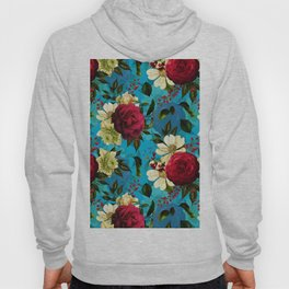 Vintage & Shabby Chic - Midnight Tropical Garden blue Hoody