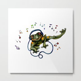 Frog Dancer Metal Print