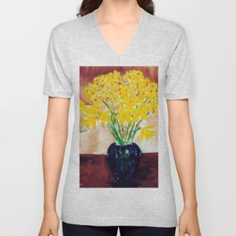 Daffodils  and Jonquils             by      Kay Lipton Unisex V-Neck