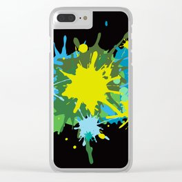 ink splash 2 Clear iPhone Case