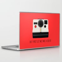 selfie Laptop & iPad Skins featuring Selfie by Laura Maria Designs