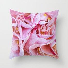 Strawberry Blonde Camellia Throw Pillow