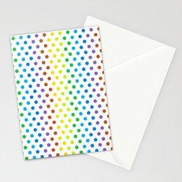 Polka-Dot Rainbow - Modern Abstract Artwork Stationery Cards