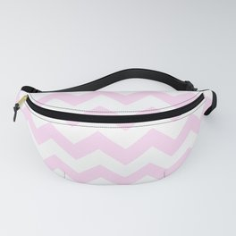 White and Pink Lace Pink Horizontal Zigzags Fanny Pack