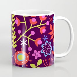 Neon Floral Coffee Mug