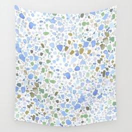 Magic Terrazzo Blue Wall Tapestry