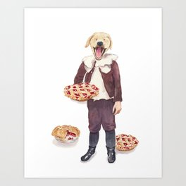 Pie in the Hand Art Print