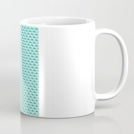 Minimalistic geometric blue pattern with small abstract shapes.  Coffee Mug