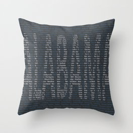 Alabama and All Her Cities Throw Pillow
