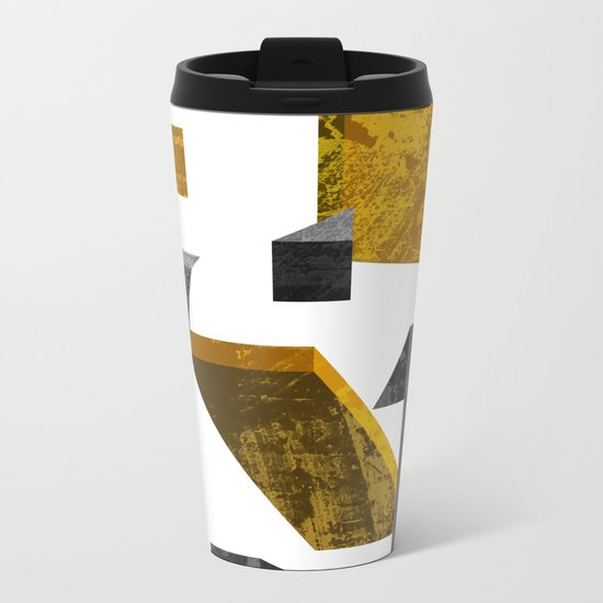 Geometric poster Metal Travel Mug