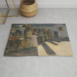 """John Singer Sargent """"Capri Girl on a Rooftop"""" Rug"""