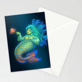 Mandarin Mermaid Stationery Cards