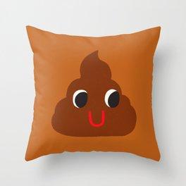 Cute Poop Throw Pillow