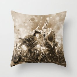 Welcome to Life in Sepia Throw Pillow