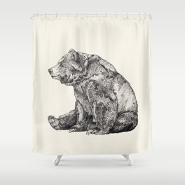 Bear // Graphite Shower Curtain
