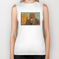 phil jones Biker Tanks featuring Punxsutawney Phil by Derek Eads